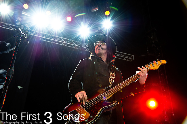 Jimmy 'Two Fingers' Ashhurst of Buckcherry performs at the Klipsch Music Center in Indianapolis, IN.