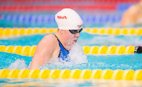 Picture by Allan McKenzie/SWpix.com - 15/12/2017 - Swimming - Swim England Winter Championships - Ponds Forge International Sports Centre, Sheffield, England - Kierra Smith races in the womens open 200m breaststroke.