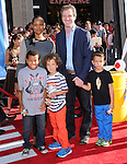 Garcelle Beauvais,Mike Nilon and kids at Disney's World Premiere of Planes held at the El Capitan Theatre in Hollywood, California on August 05,2013                                                                   Copyright 2013 Hollywood Press Agency