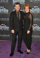 Andy Serkis &amp; Lorraine Ashbourne at the world premiere for &quot;Black Panther&quot; at the Dolby Theatre, Hollywood, USA 29 Jan. 2018<br /> Picture: Paul Smith/Featureflash/SilverHub 0208 004 5359 sales@silverhubmedia.com