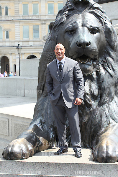 Dwayne Johnson attending at photocell for Hercules, at Trafalgar Square, London. 02/07/2014 Picture by: Alexandra Glen / Featureflash
