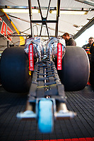 Feb 25, 2018; Chandler, AZ, USA; Detailed view of the parachute packs on the dragster of NHRA top fuel driver Richie Crampton during the Arizona Nationals at Wild Horse Pass Motorsports Park. Mandatory Credit: Mark J. Rebilas-USA TODAY Sports