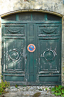 Street scene old doorway at St Martin de Re,  Ile de Re, France
