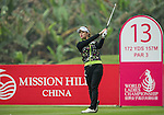 Seung Hyun Lee of South Korea tees off at the 13th hole during Round 3 of the World Ladies Championship 2016 on 12 March 2016 at Mission Hills Olazabal Golf Course in Dongguan, China. Photo by Victor Fraile / Power Sport Images