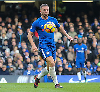 Daniel Drinkwater of Chelsea during the Premier League match between Chelsea and Newcastle United at Stamford Bridge, London, England on 2 December 2017. Photo by David Horn.