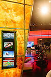 Various screens can be seen inside a studio at The Weather Channel in Atlanta, Georgia May 16, 2013.