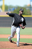 Chicago White Sox pitcher Braulio Ortiz (62) during an Instructional League game against the San Diego Padres on October 3, 2014 at Peoria Stadium Training Complex in Peoria, Arizona.  (Mike Janes/Four Seam Images)