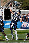 October 22, 2011:  Nevada Wolf Pack quarterback Cody Fajardo throws a pass in the first quarter against the Fresno State Bulldogs during a WAC league game played at Mackay Stadium in Reno, Nevada.