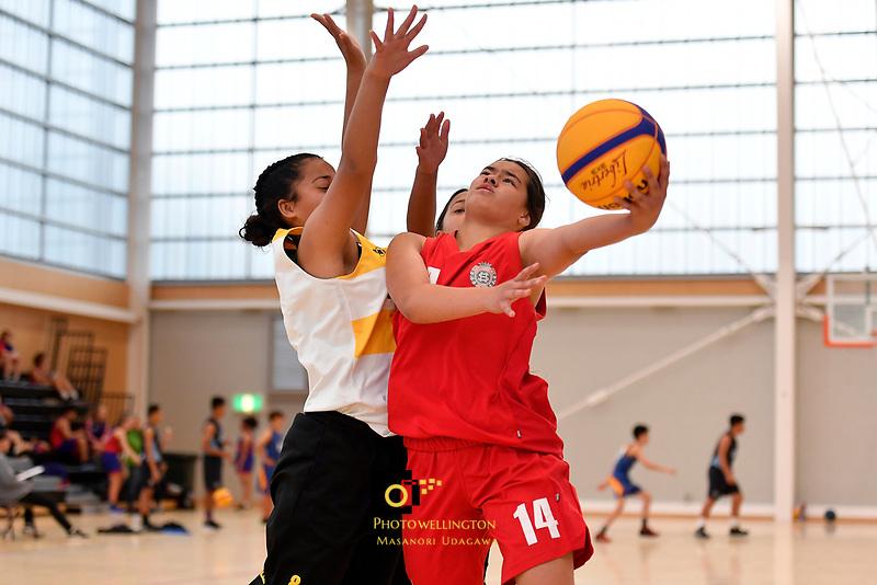 Basketball &ndash; CSW 3&times;3 Junior Tournament at Walter Nash Centre, Lower Hutt, New Zealand on Tuesday 6 November 2018. <br /> Photo by Masanori Udagawa. <br /> www.photowellington.photoshelter.com