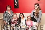 Birthday Party: Doreen Neville, Listowel celebrating her birthday with family at Eabha Joan's Restaurant, Listowel on Friday night last. L- R : caroline Finnegan, Doreen Neville, Angela Neville, Clodagh & Ciara Finnegan.