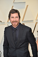 LOS ANGELES, CA. February 24, 2019: Christian Bale at the 91st Academy Awards at the Dolby Theatre.<br /> Picture: Paul Smith/Featureflash