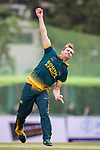 Sarel Erwee of South Africa bowls during Day 2 of Hong Kong Cricket World Sixes 2017 Cup final match between Pakistan vs South Africa  at Kowloon Cricket Club on 29 October 2017, in Hong Kong, China. Photo by Yu Chun Christopher Wong / Power Sport Images
