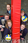 SPIKE MASTERS: Ardfert NS Spikeball Team clockwise from bottom left Laoise McElligott, Aoife Fitzgerald, Claire Crowley, Sarah Fitzgerald and Treise Moran.