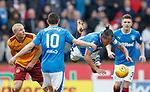 31.3.2018: Motherwell v Rangers: <br /> Bruno Alves and Curtis Main