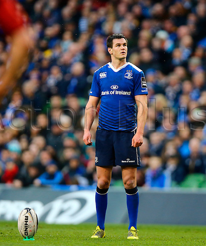 02.04.2016. Aviva Stadium, Dublin, Ireland. Guinness Pro12.  Leinster versus Munster. <br /> Johnny Sexton (Leinster) lines up a penalty.