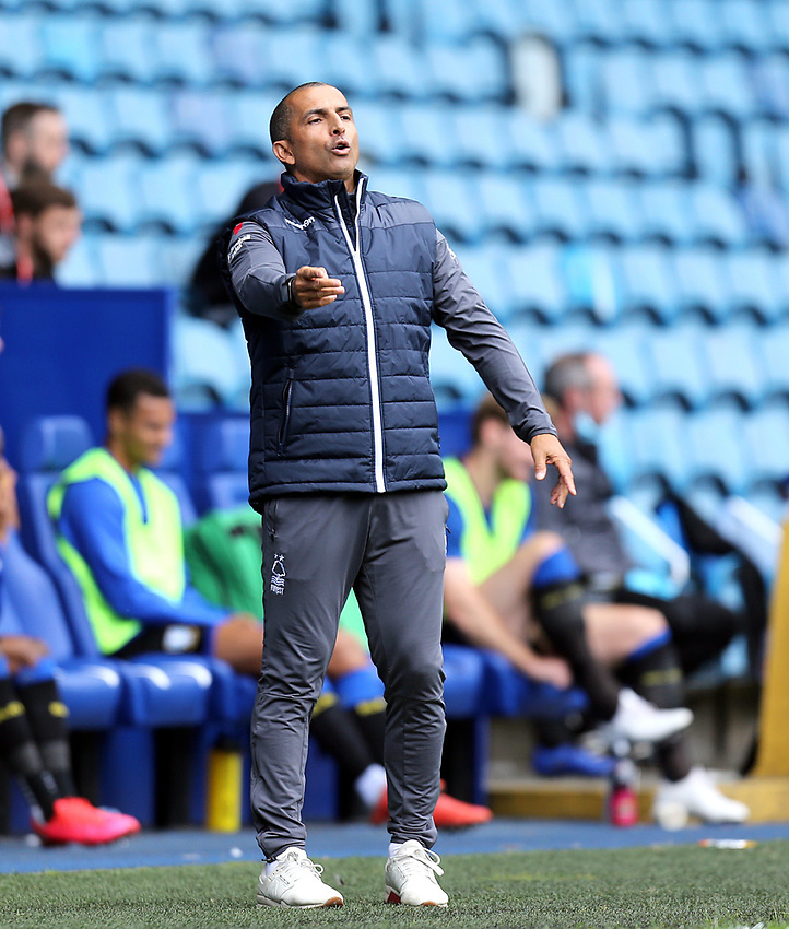 Nottingham Forest manager Sabri Lamouchi shouts instructions to his team from the technical area<br /> <br /> Photographer Rich Linley/CameraSport<br /> <br /> The EFL Sky Bet Championship - Sheffield Wednesday v Nottingham Forest - Saturday 20th June 2020 - Hillsborough - Sheffield <br /> <br /> World Copyright © 2020 CameraSport. All rights reserved. 43 Linden Ave. Countesthorpe. Leicester. England. LE8 5PG - Tel: +44 (0) 116 277 4147 - admin@camerasport.com - www.camerasport.com