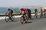 A second group tries to form as the peloton leave the coast after the start of Stage 4 of the La Vuelta 2018, running 162km from Velez-Malaga to Alfacar, Sierra de la Alfaguara, Andalucia, Spain. 28th August 2018.<br /> Picture: Colin Flockton   Cyclefile<br /> <br /> <br /> All photos usage must carry mandatory copyright credit (&copy; Cyclefile   Colin Flockton)