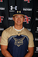 Carter Kim during the Under Armour All-America Tournament powered by Baseball Factory on January 17, 2020 at Sloan Park in Mesa, Arizona.  (Mike Janes/Four Seam Images)
