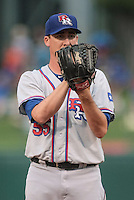 Scott Richmond (55) of the Round Rock Express pitching during the Pacific Coast League game against the Oklahoma City RedHawks at Chickashaw Bricktown Ballpark on June 14, 2013 in Oklahoma City ,Oklahoma.  (William Purnell/Four Seam Images)