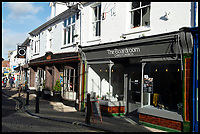 BNPS.co.uk (01202 558833)<br /> Pic:  RogerArbon/BNPS<br /> <br /> The Boardroom and Soho - two coffee places next door to each other in Christchurch.<br /> <br /> A retirement town that is overspilling with coffee shops is to get its 15th after officials lost their bid to put a lid on them.<br /> <br /> Councillors in Christchurch, Dorset, refused a Coffee#1 permission to take over an empty shop because the town had too many cafes.<br /> <br /> But the national chain appealed the decision and have won their case.<br /> <br /> It means there will now be 15 coffee shops in a 500 metre stretch of the High Street - or one every 33 metres.