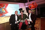 Smart Solutions Mad Hatters Ball<br /> Nathan Bowles &amp; Paul Cleverley with The Mad Hatter.<br /> Mecure Holland House<br /> Cardiff<br /> 23.11.13<br /> &copy;Steve Pope-FOTOWALES