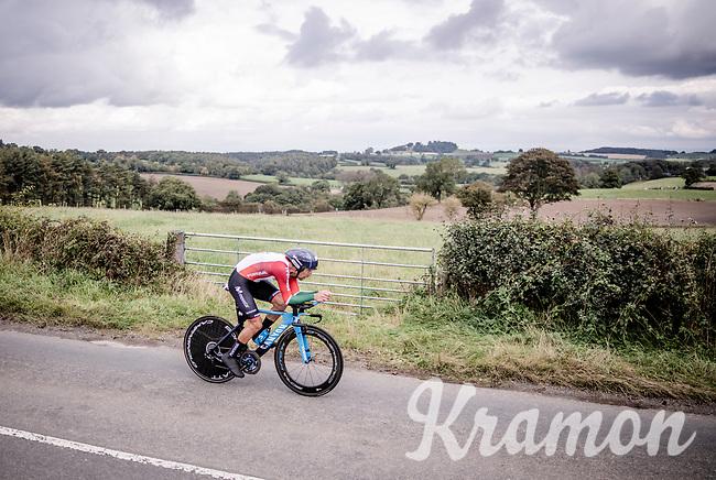 Nelson Oliveira (POR/Movistar)<br /> Elite Men Individual Time Trial<br /> from Northhallerton to Harrogate (54km)<br /> <br /> 2019 Road World Championships Yorkshire (GBR)<br /> <br /> ©kramon