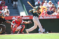 09/13/12 Anaheim, CA: Oakland Athletics second baseman Jemile Weeks #19 during an MLB game played between the oakland Athletics and Los Angeles Angels at Angel Stadium. The Angels defeated the A's 6-0.