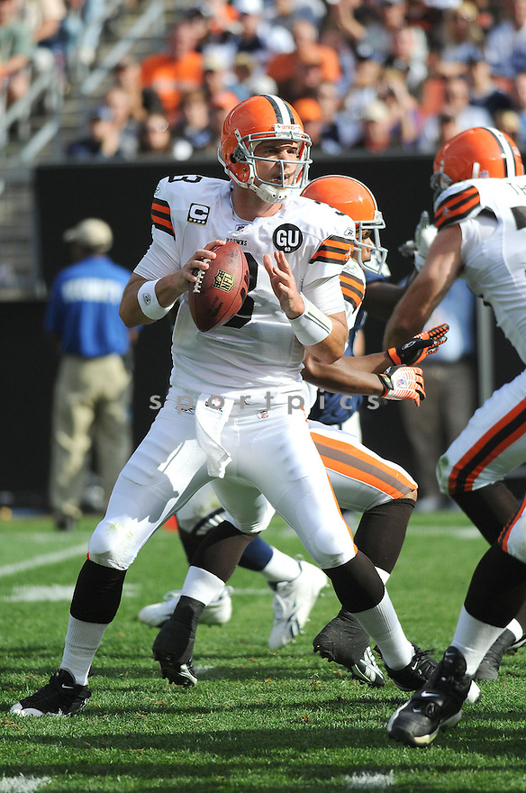 DEREK ANDERSON, of the Cleveland Browns , in action during the Browns game against the Dallas Cowboys in Cleveland, Ohio on September 7, 2008..The Dallas Cowboys won 28-10