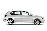 Passenger side profile view of a 2009 Mazda3 5-Door Sport.
