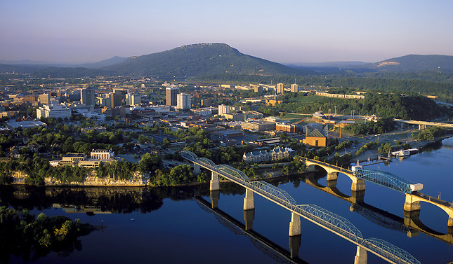 Chattanooga Riverfront with Bridges