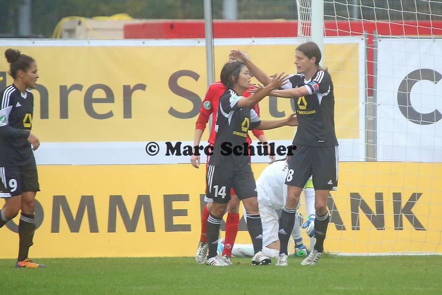 Torjubel 1. FFC Frankfurt beim 1:0 durch Kozue Ando - 1. FFC Frankfurt vs. VfL Sindelfingen