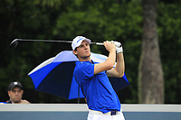 Thomas Pieters (Europe) on the 9th tee during the Friday Foursomes of the Eurasia Cup at Glenmarie Golf and Country Club on the 12th January 2018.<br /> Picture:  Thos Caffrey / www.golffile.ie