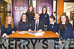 BANKING ON IT: Students from Presentation secondary school are hoping their new bank will be a big success..Sadhbh Keating, Caoimhe Healy, Colm Cooper, Marie Woulfe and Clodagh Moriarty. Bcak l-r were: Keeva O'Sullivan and Laura Daly.