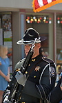 Member of the Ulster Co. Sheriff's Dept, Honorguard, seen in the Independence Day Parade in Village of Saugerties, NY, on Tuesday, July 4, 2017. Photo by Jim Peppler. Copyright/Jim Peppler-2017.