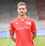 06.07.2019, Stadion an der Wuhlheide, Berlin, GER, 2.FBL, 1.FC UNION BERLIN , Mannschaftsfoto, Portraits, <br /> DFL  regulations prohibit any use of photographs as image sequences and/or quasi-video<br /> im Bild Cihan Kahraman (1.FC Union Berlin #36)<br /> <br /> <br />      <br /> Foto © nordphoto / Engler