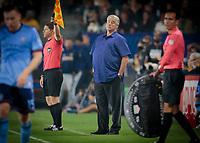 Carson, CA - Saturday August 12, 2017: Sigi Schmid during a Major League Soccer (MLS) game between the Los Angeles Galaxy and the New York City FC at StubHub Center.