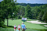 Carlota Ciganda (ESP) and Seon Woo Bae (KOR) score signage follows them down 2 during Saturday's third round of the 72nd U.S. Women's Open Championship, at Trump National Golf Club, Bedminster, New Jersey. 7/15/2017.<br /> Picture: Golffile | Ken Murray<br /> <br /> <br /> All photo usage must carry mandatory copyright credit (&copy; Golffile | Ken Murray)