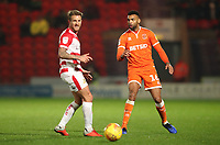 Blackpool's Curtis Tilt and Doncaster Rovers' James Coppinger<br /> <br /> Photographer Rachel Holborn/CameraSport<br /> <br /> The EFL Sky Bet League One - Doncaster Rovers v Blackpool - Tuesday 27th November 2018 - Keepmoat Stadium - Doncaster<br /> <br /> World Copyright &copy; 2018 CameraSport. All rights reserved. 43 Linden Ave. Countesthorpe. Leicester. England. LE8 5PG - Tel: +44 (0) 116 277 4147 - admin@camerasport.com - www.camerasport.com