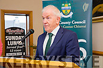 Minister Jimmy Deenihan.  at the formal opening of the 1916 roadshow in Kerins O'Rahilly's Clubhouse on Saturday