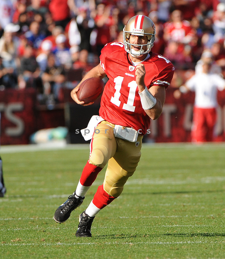 ALEX SMITH, of the San Francisco 49ers, in action during the 49ers game against the New York Giants on November 13, 2011 at Candlestick Park in San Francisco, CA. The 49ers beat the Giants 27-20.
