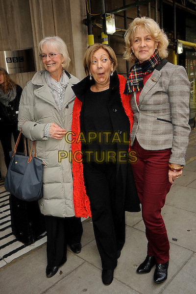 LONDON ENGLAND -  NOVEMBER 13: Dee Dee Wild, Ruth Person, Babs Powell from Pan's People on November 13th, 2013 in London England<br /> CAP/IA<br /> &copy;Ian Allis/Capital Pictures