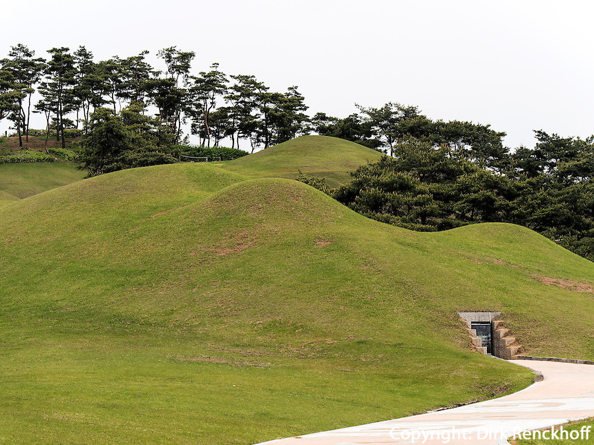 Grab von K&ouml;nig Muryeong in Gongju, Provinz Chungcheongnam-do, S&uuml;dkorea, Asien, UNESCO-Weltkulturerbe<br /> tomb of king Muryeong in Gongju, province Chungcheongnam-do, South Korea, Asia, UNESCO worl-heritage