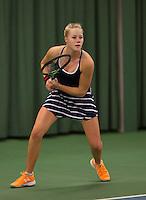 Rotterdam, The Netherlands, March 20, 2016,  TV Victoria, NOJK 14/18 years, Nina Kruijer (NED)<br /> Photo: Tennisimages/Henk Koster