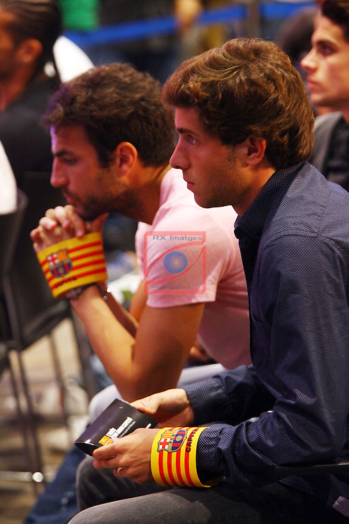 Acte de Comiat a Carles Puyol com a jugador del FC Barcelona.<br /> Cesc Fabregas &amp; Sergi Roberto.