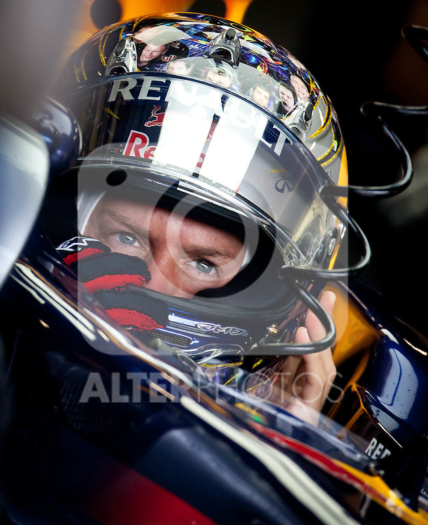 08.07.2011, Silverstone Circuit, Silverstone, GBR, F1, Großer Preis von Großbritannien, Silverstone, im Bild Sebastian Vettel (GER), Red Bull Racing-Renault // during the Formula One Championships 2011 British Grand Prix held at the Silverstone Circuit, Northamptonshire, United Kingdom, 2011-07-08, EXPA Pictures © 2011, PhotoCredit: EXPA/ J. Feichter