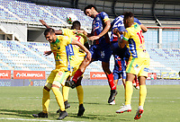 SANTA MARTA – COLOMBIA, 20-07-2019: Unión Magdalena y Atlético Huila en partido por la fecha 2,  de la Liga Águila II 2019 jugado en el estadio Sierra Nevada de la ciudad de Santa Marta. / Union Magdalena and Atletico Huila in match for the date 2  as part Aguila League II 2019 played at Sierra Nevada stadium in Santa Marta city. Photos: VizzorImage / Gustavo Pacheco / Contruidor