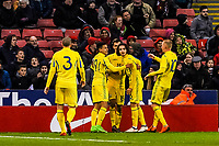 Dynamo Kyiv  's midfielder Mykola Shaparenko (6) for Ukraine U21's  celebrates his equaliser with his teammates during the International Euro U21 Qualification match between England U21 and Ukraine U21 at Bramall Lane, Sheffield, England on 27 March 2018. Photo by Stephen Buckley / PRiME Media Images.