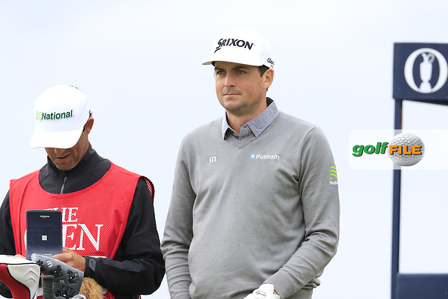 Keegan Bradley (USA) on the 3rd tee during Saturday's Round 3 of the 145th Open Championship held at Royal Troon Golf Club, Troon, Ayreshire, Scotland. 16th July 2016.<br /> Picture: Eoin Clarke | Golffile<br /> <br /> <br /> All photos usage must carry mandatory copyright credit (&copy; Golffile | Eoin Clarke)