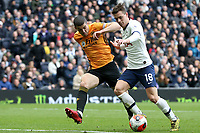 Conor Coady of Wolverhampton Wanderers and Giovani Lo Celso of Tottenham Hotspur during Tottenham Hotspur vs Wolverhampton Wanderers, Premier League Football at Tottenham Hotspur Stadium on 1st March 2020