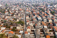 A crowded residential area in the city of Linzhou. /Felix Features